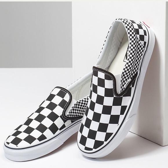 Vans Shoes | Mix Checker Slip On Vans